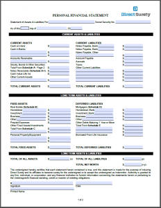 Application center direct surety providing contract for Personal surety template